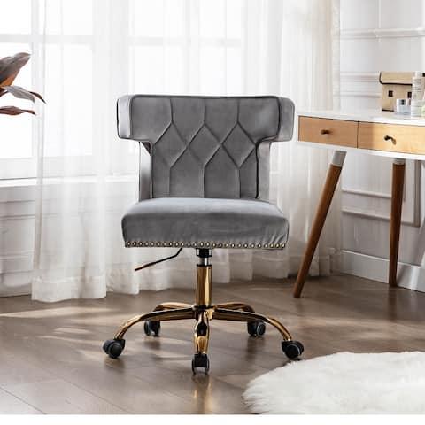 Moda Swivel Wingback Chair for Modern Leisure office Chair Grey
