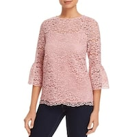 Alison Andrews Pink Women's Size Large L Bell Sleeve Lace Knit Top