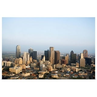 """""""Aerial view of downtown Dallas, Texas"""" Poster Print"""