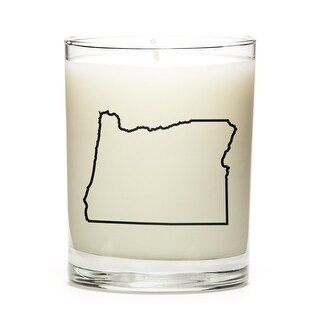 State Outline Soy Wax Candle, Oregon State, Fresh Linen
