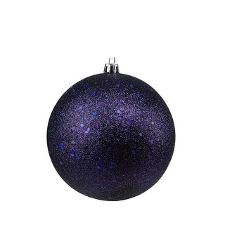 "Indigo Blue Holographic Glitter Shatterproof Christmas Ball Ornament 4"" (100mm)"