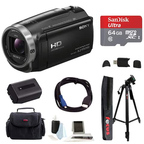 Sony HDR-CX675 Handycam Full HD 1080p Camcorder with 64GB Card Bundle