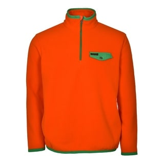 Polo Ralph Lauren RL Fleece Sweatshirt X-Large Orange and Green Half-Zip