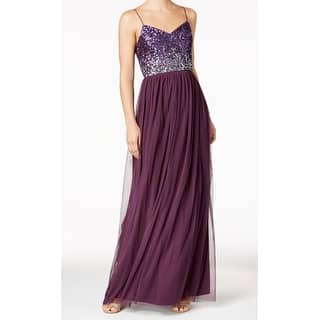 04ce97d920bb5 Quick View. Was  94.99.  31.00 OFF. Sale  63.99. Adrianna Papell Purple  Womens Size 16 Tulle Chiffon Sequined Gown