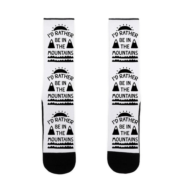 I'd Rather Be In The Mountains US Size 7-13 Socks by LookHUMAN