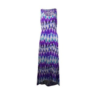 NY Collection Women's Tie Dye High Low Dress