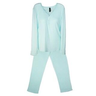 Pajama Drama Women's Plus Size Pointelle Pajama Set