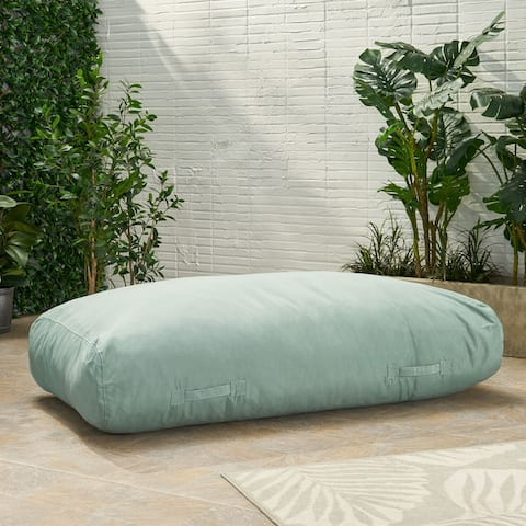 Carol Outdoor 6'x3' Lounger Bean Bag by Christopher Knight Home