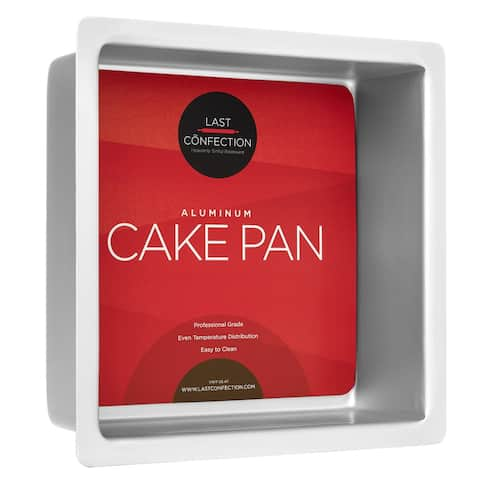 Square Aluminum Cake Pans (Multiple Sizes) - Last Confection