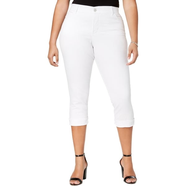 Lee Womens Plus Capri Jeans Slim Cropped