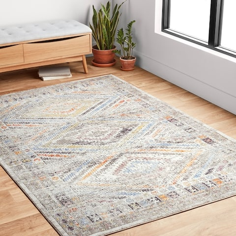 Alexander Home Adrian Tribal Inspired Distressed Area Rug