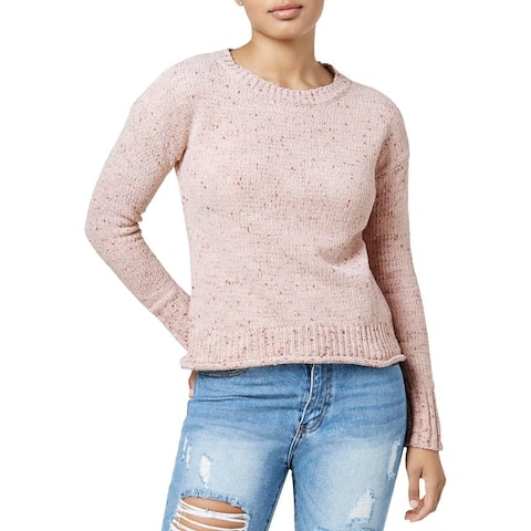One Hart Womens Juniors Pullover Sweater Crewneck 3/4 Sleeves