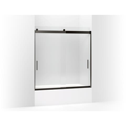 """Kohler K-706003-L Levity 62"""" H x 56-5/8""""-59-5/8"""" W Sliding Tub Door with Blade Handles and 3/8"""" Thick Clear Glass"""