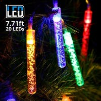 7.71ft 20 LED Bubble Stick String Lights, Battery Powered, Multi-color