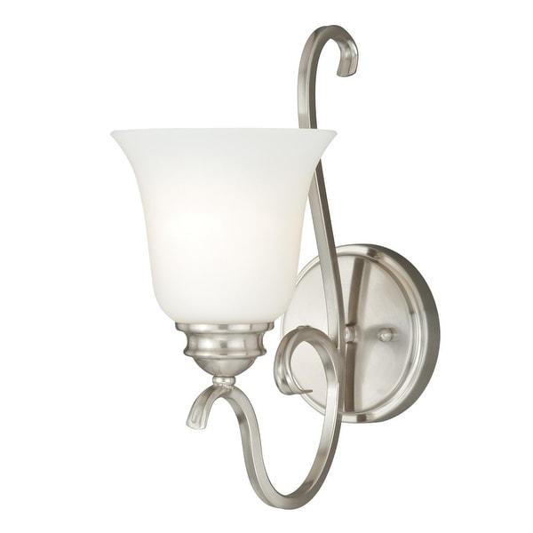 Vaxcel Lighting W0160 Hartford 1-Light Vanity Light - satin nickel - n/a