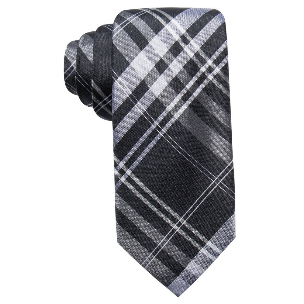 $125 Ryan Seacrest Men Fit Blue White Dot Neck Tie Slim Skinny Necktie 58 X 3