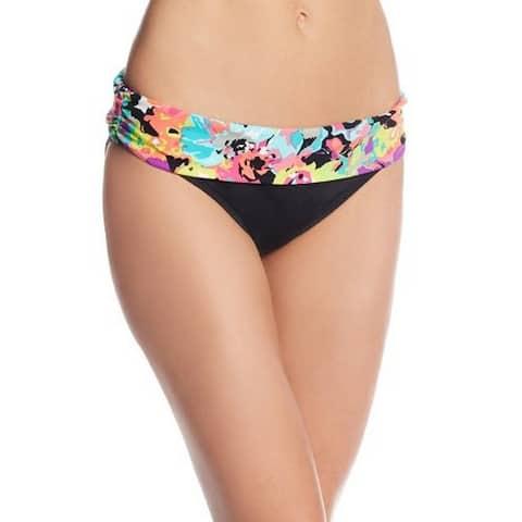 Kenneth Cole REACTION Women's Fold-Over Sash Bikini Bottom, Full Bloom (M)