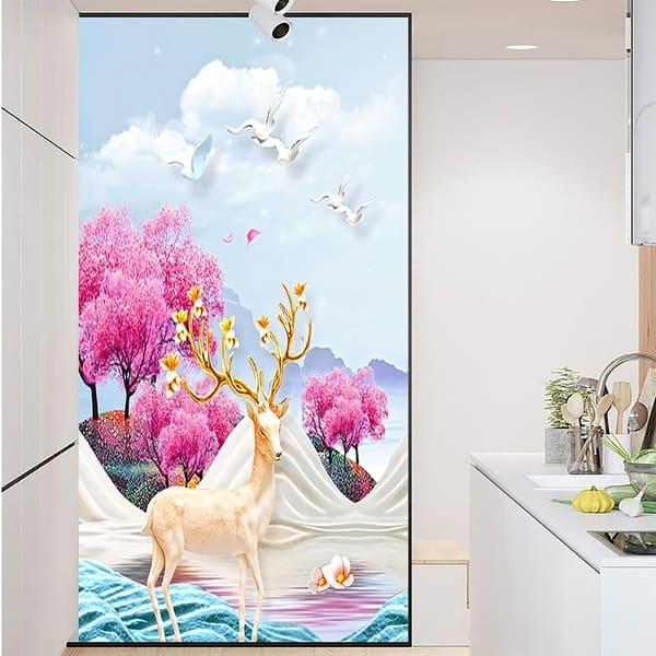 Chezmax Decorative Privacy Window Film