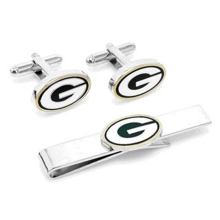 Green Bay Packers Cufflinks and Tie Clip Gift Set NFL