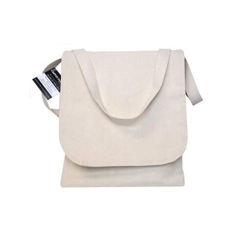 Mark Richards Wear'm Canvas Book Bag 10.5x12 Nat - White