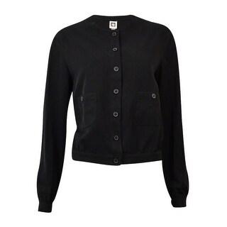 Anne Klein Women's Cropped Button Down Jacket