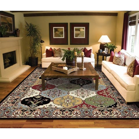 Copper Grove Seinajoki Multicolored Persian Area Rug