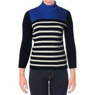 Lauren Ralph Lauren Womens Plus Cotton Long Sleeves Mock Turtleneck Sweater - 2X