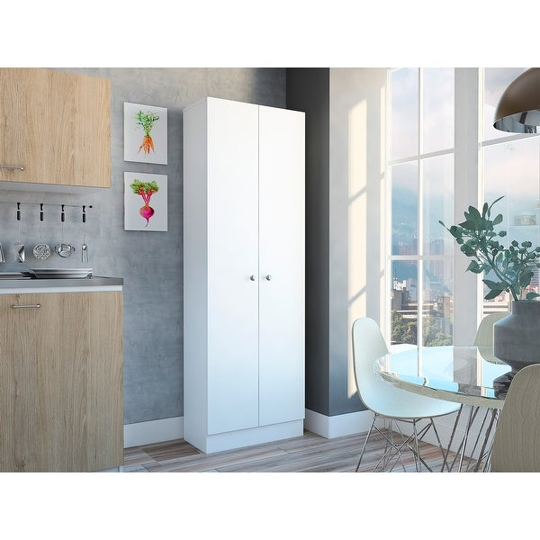 """TUHOME Multi storage 71"""" kitchen pantry. Opens flyout."""