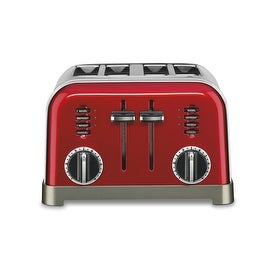 Cuisinart CPT-180MR Metal Classic Toaster, 4 Slice, Metallic Red