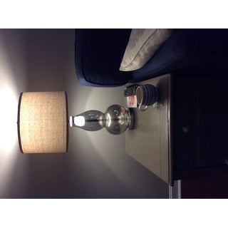 Safavieh Lighting 28.5-inch Antique Silver Mercurio Double Gourd Lamp (Set of 2)