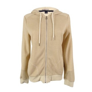 Tommy Hilfiger Women's Zip-Front Metallic Hoodie Sweater