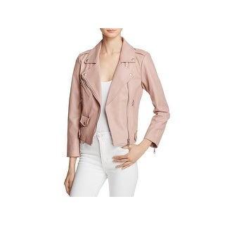 Rebecca Minkoff Womens Motorcycle Jacket Lambskin Leather Perforated