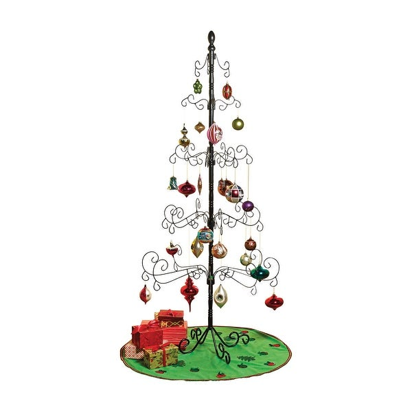 wrought iron christmas ornament display tree 83 35 in x 83 in