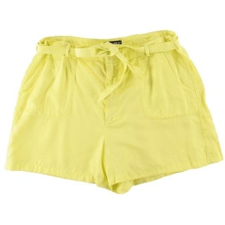 Kiind Of Womens Casual Shorts Solid Woven