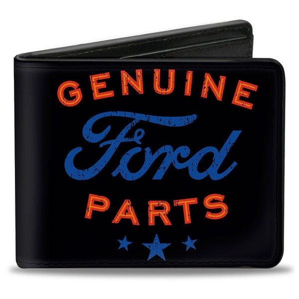 Genuine Ford Parts Star Logo Black Red Blue Bi Fold Wallet - One Size Fits most