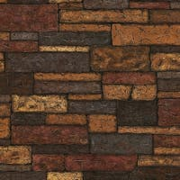 Brewster 412-41394 Bristol 56 Sq.Ft. Brick Imitating Wallpaper - taupe - N/A
