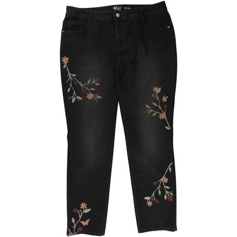 Style&Co. Womens Tummy-Control Embroidered Skinny Fit Jeans - 16W