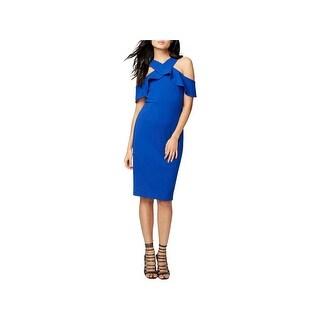 Rachel Rachel Roy Womens Scuba Dress Ruffled Cold Shoulder