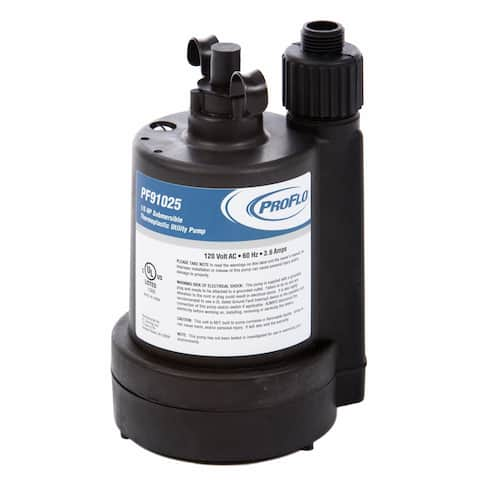 PROFLO PF91025 1/5 HP Thermoplastic Submersible Utility Pump -