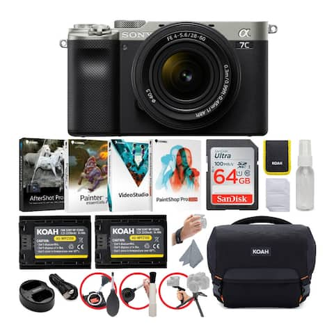 Sony Alpha a7C Mirrorless Camera with FE 28-60mm Lens (Silver) Essentials Bundle