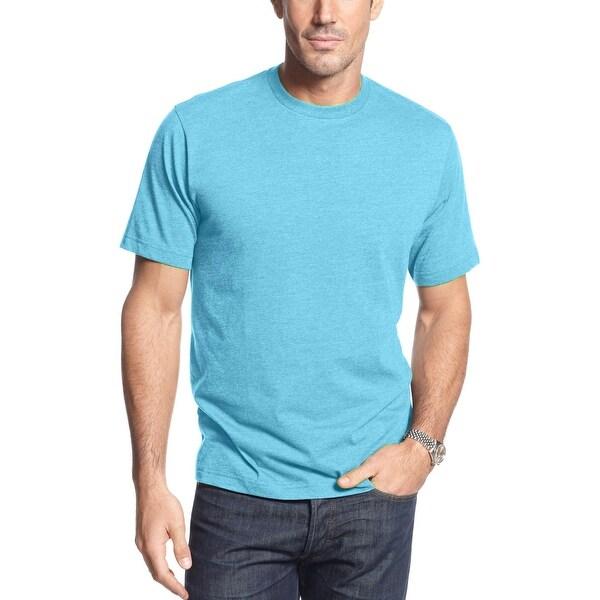 John Ashford Short Sleeve Crewneck T-Shirt Tee Washed Turquoise Blue