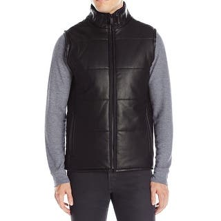 Calvin Klein NEW Black Mens Size Small S Faux-Leather Full Zip Vest|https://ak1.ostkcdn.com/images/products/is/images/direct/d729739f7753dcee458406fe388f1527b43f8a7b/Calvin-Klein-NEW-Black-Mens-Size-Small-S-Faux-Leather-Full-Zip-Vest.jpg?impolicy=medium