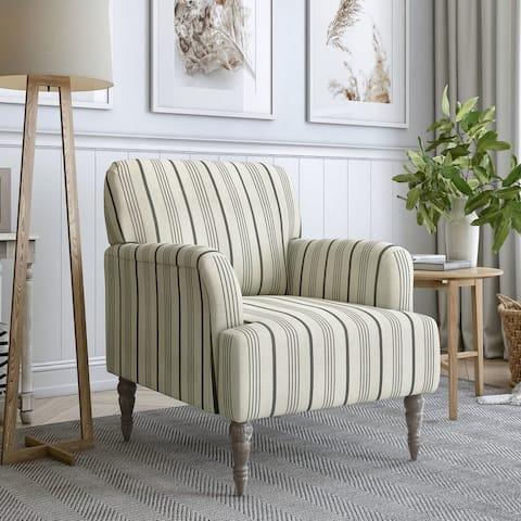 The Gray Barn Desden Farmhouse Woven Arm Chair