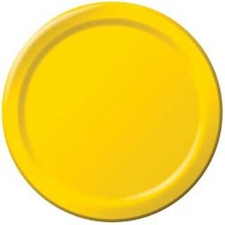 "School Bus Yellow - Dinner Plates 9"" 24/Pkg"