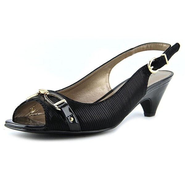 Karen Scott Alissah Women  Open-Toe Synthetic Black Slingback Sandal