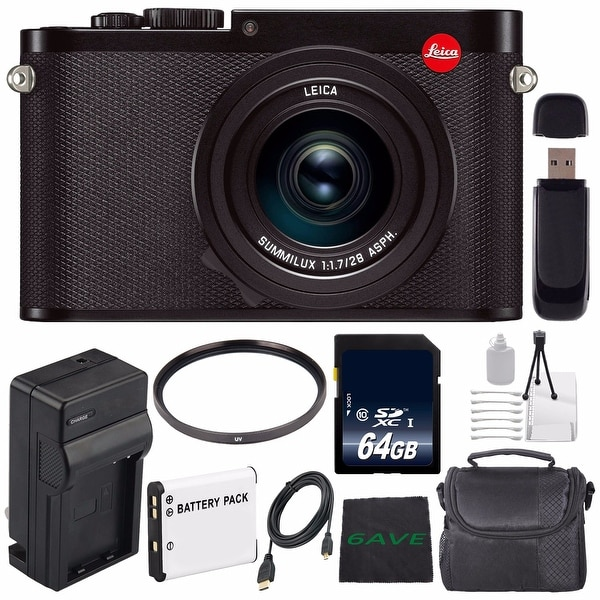 Leica Q (Typ 116) Digital Camera + Replacement Lithium Ion Battery + External Rapid Charger + 64GB Card Bundle