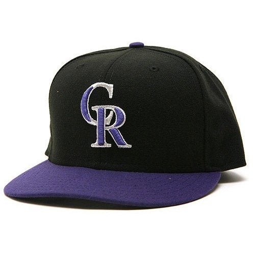 new style 6f5a4 3ca02 Shop New Era Colorado Rockies Performance Alternate Fitted Cap Hat - Black Purple  - 7 - Free Shipping On Orders Over  45 - Overstock - 20669479