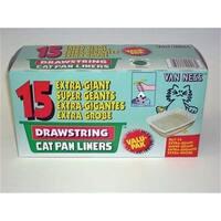 Van Ness Plastic Molding Drwstrng Xgiant Cat Pan Liners - DL7-15