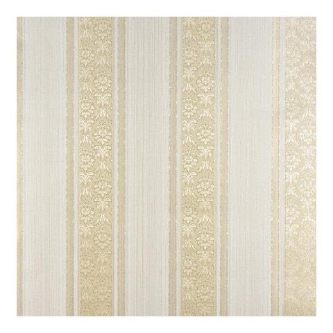 Mackenzie Gold Stripe Wallpaper - 21 x 396 x 0.025