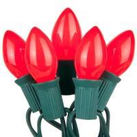 Wintergreen Lighting 67235 25 C7 5W Holiday Bulbs on Green Wire